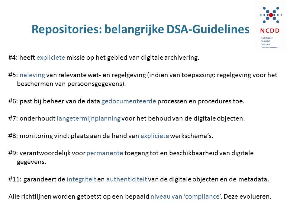 Repositories: belangrijke DSA-Guidelines
