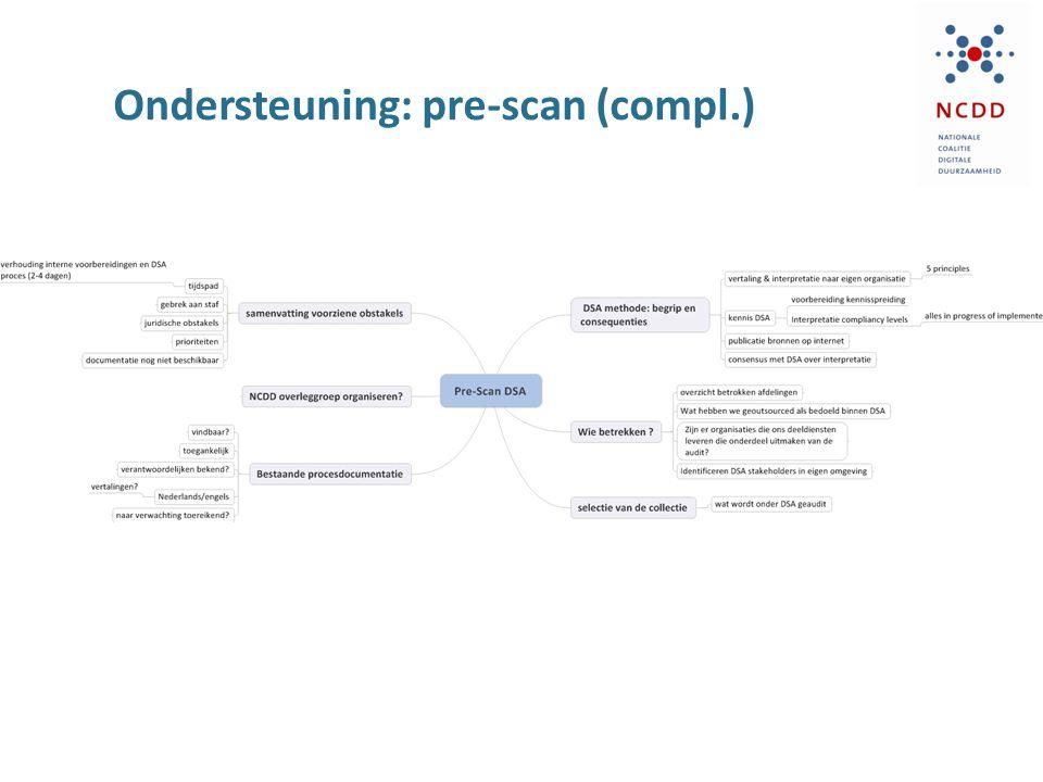 Ondersteuning: pre-scan (compl.)