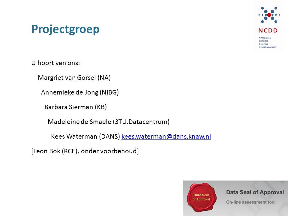 Projectgroep U hoort van ons: Margriet van Gorsel (NA)