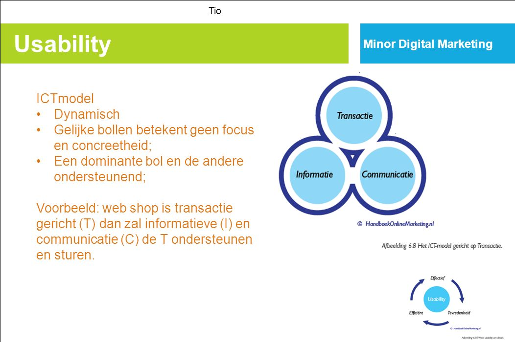 Usability ICTmodel Dynamisch