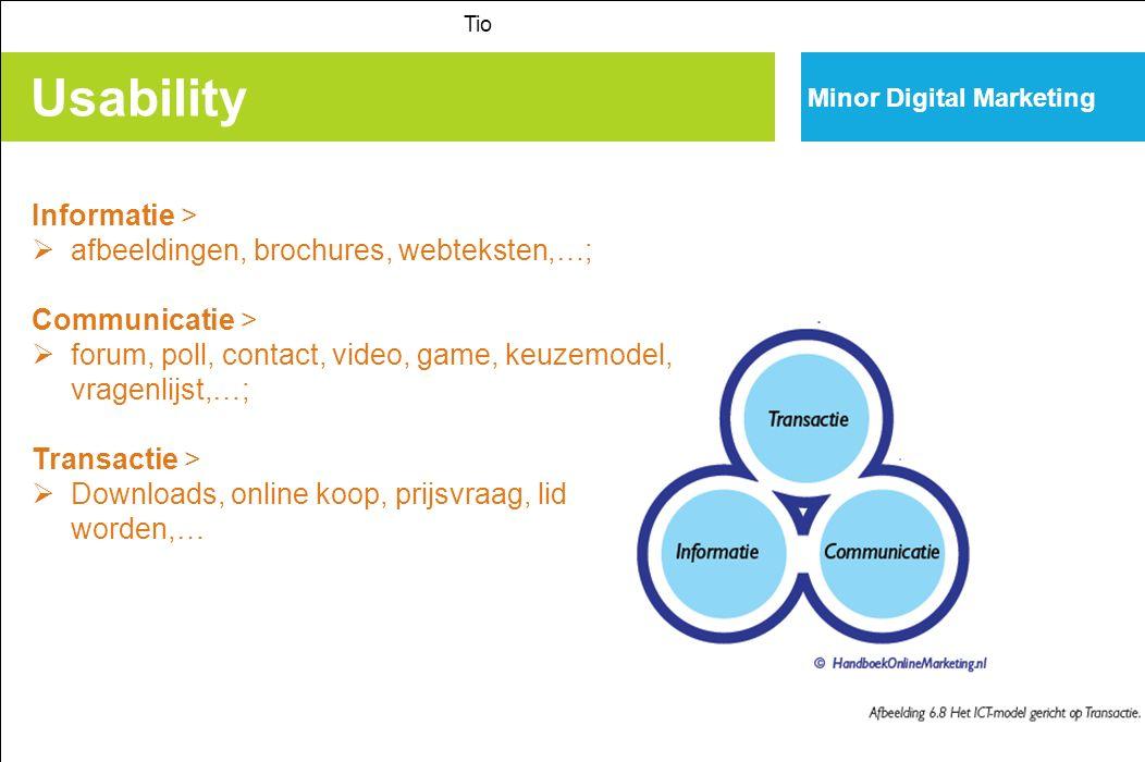 Usability Informatie > afbeeldingen, brochures, webteksten,…;