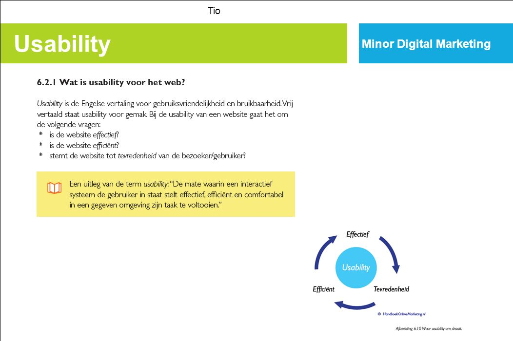 Tio Minor Digital Marketing Usability