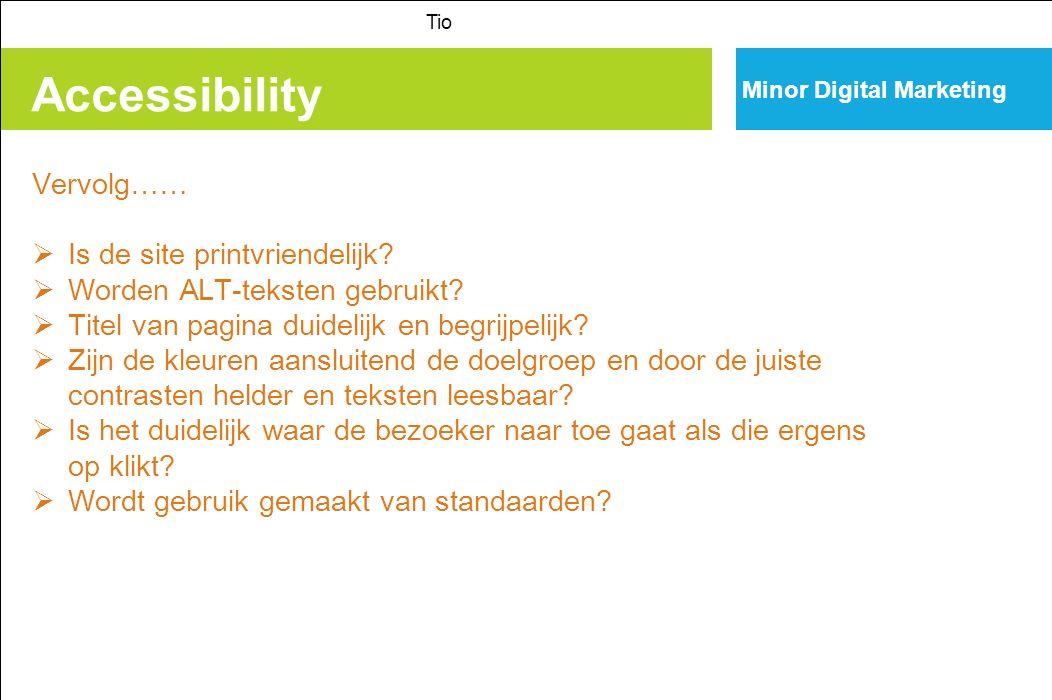 Accessibility Vervolg…… Is de site printvriendelijk