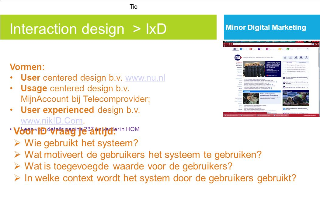 Interaction design > IxD