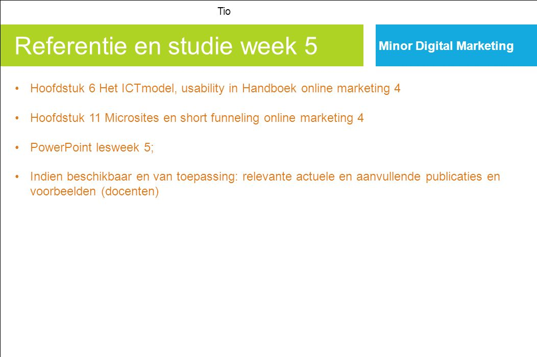 Referentie en studie week 5