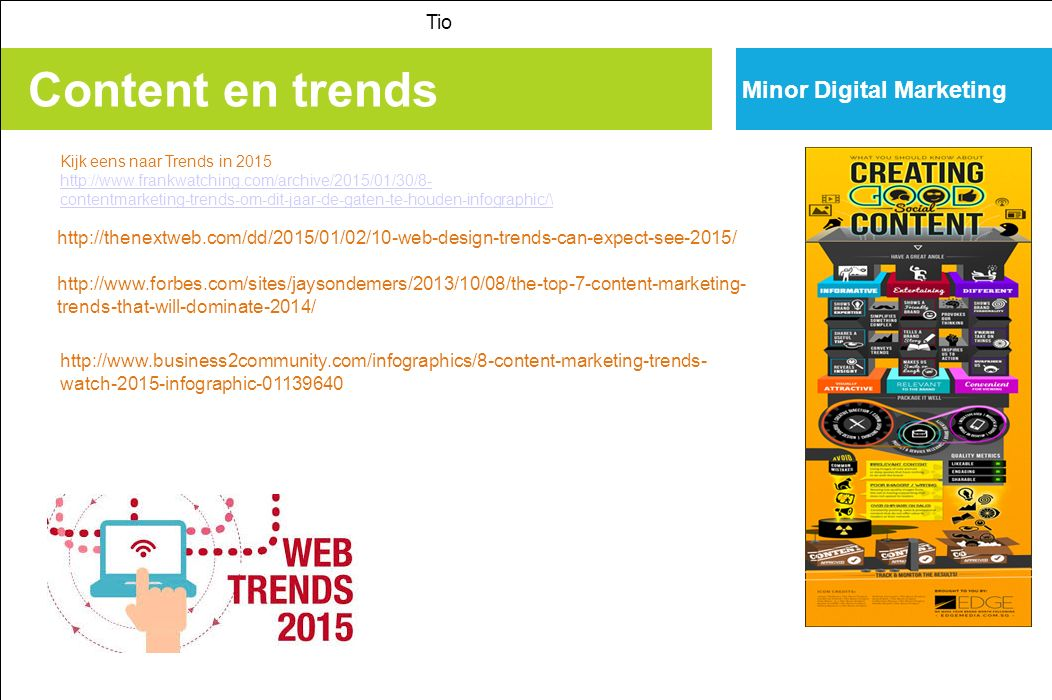 Content en trends Minor Digital Marketing Tio