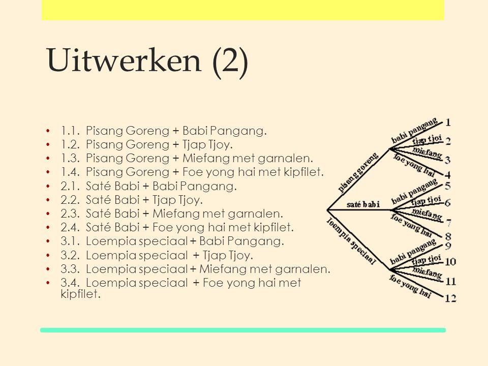 Uitwerken (2) 1.1. Pisang Goreng + Babi Pangang.