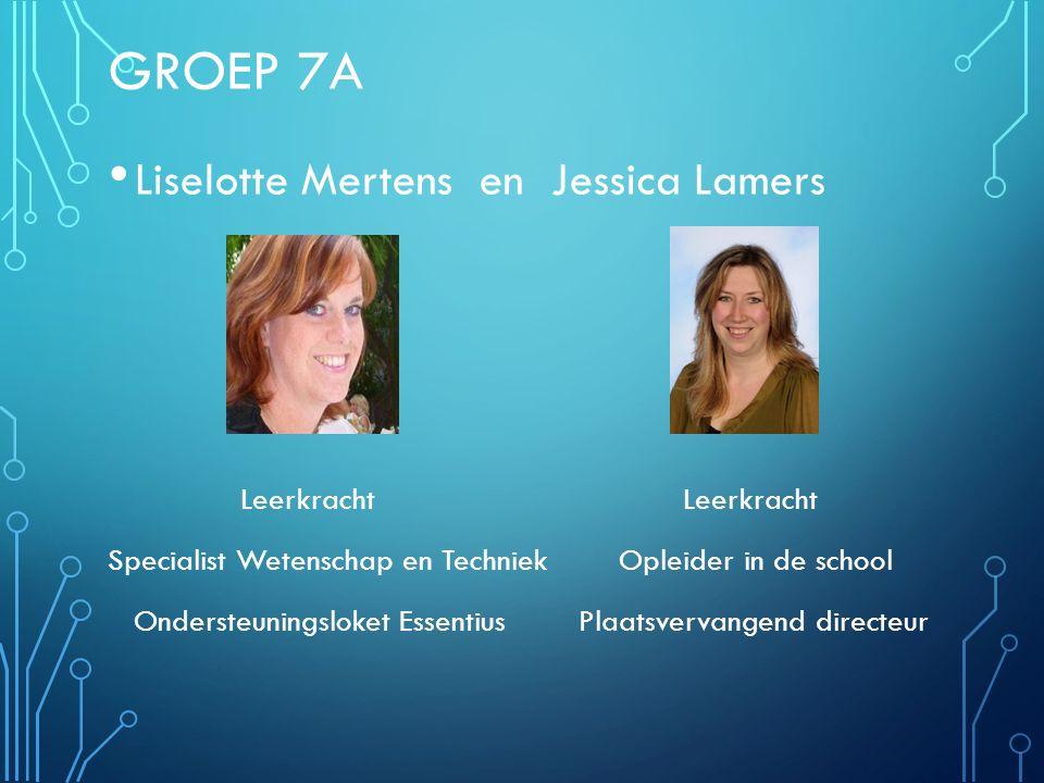 Groep 7A Liselotte Mertens en Jessica Lamers Leerkracht Leerkracht