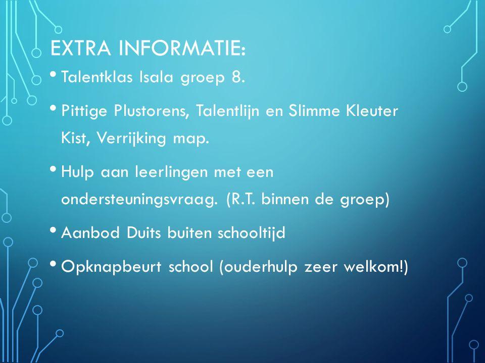Extra informatie: Talentklas Isala groep 8.