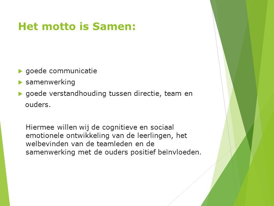 Het motto is Samen: goede communicatie samenwerking