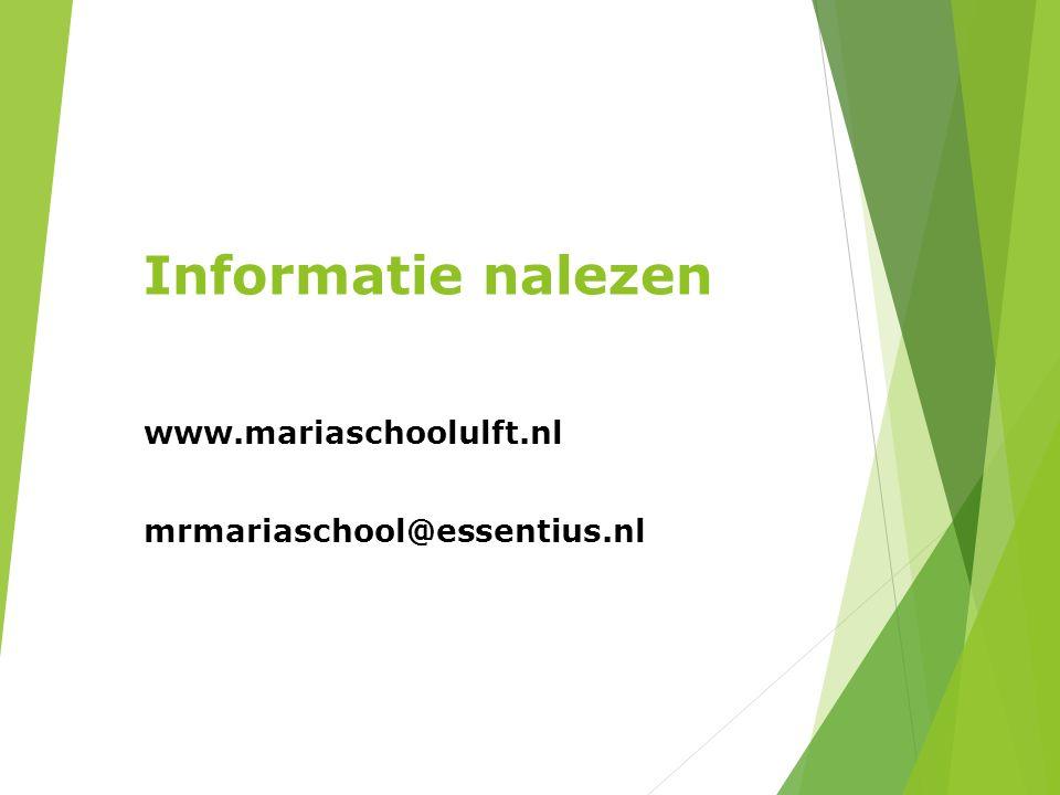 www.mariaschoolulft.nl mrmariaschool@essentius.nl