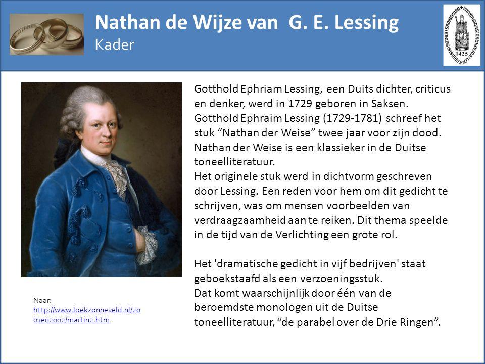 Nathan de Wijze van G. E. Lessing
