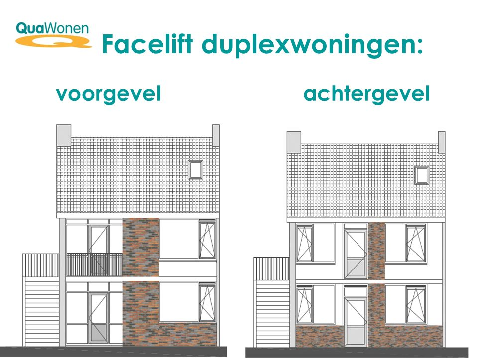Facelift duplexwoningen: