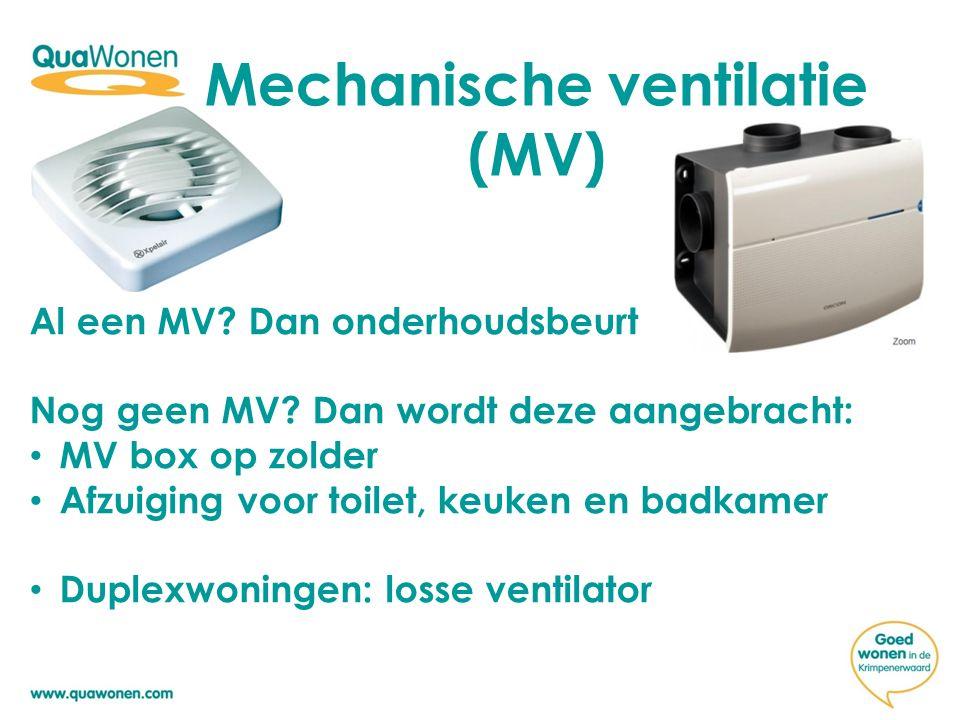 Mechanische ventilatie (MV)
