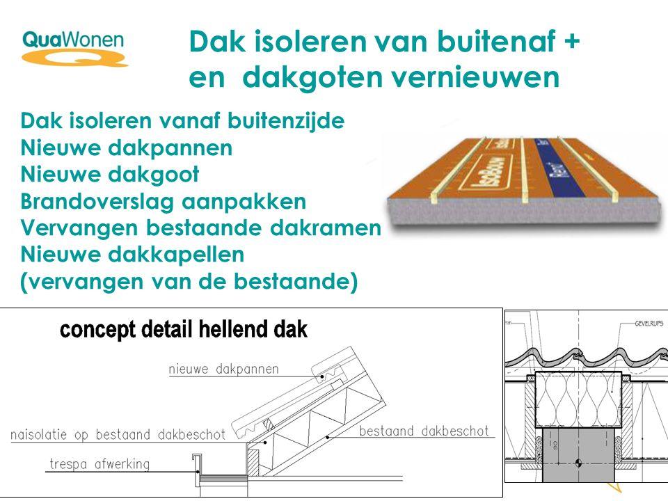 Dak isoleren van buitenaf + en dakgoten vernieuwen