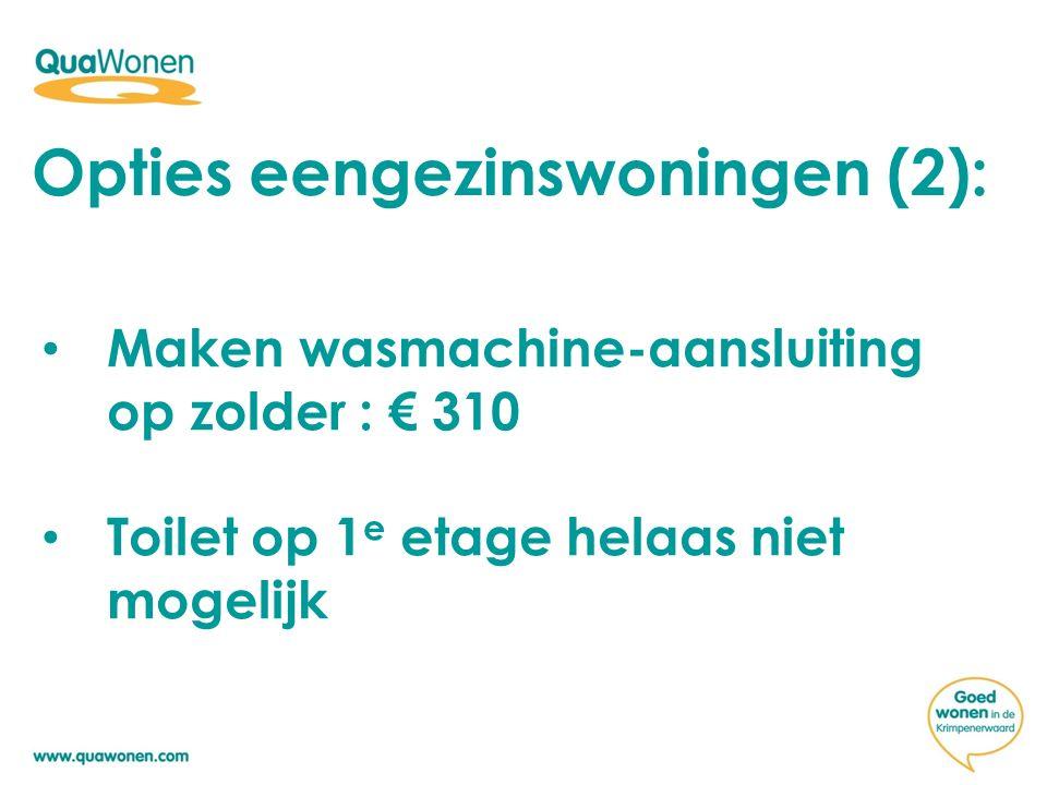 Opties eengezinswoningen (2):