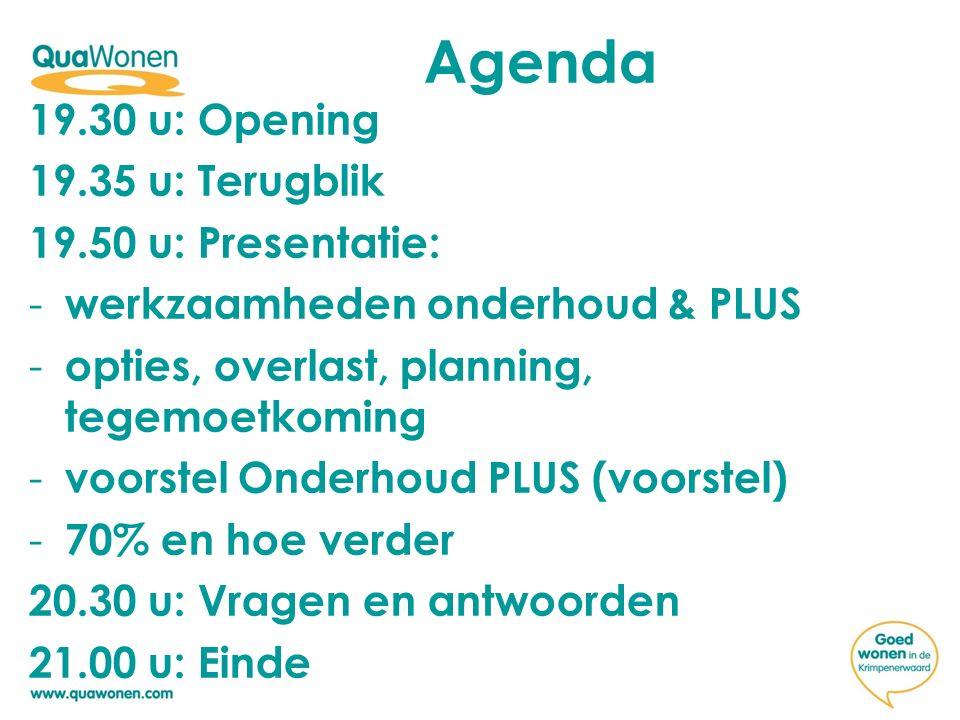 Agenda 19.30 u: Opening 19.35 u: Terugblik 19.50 u: Presentatie: