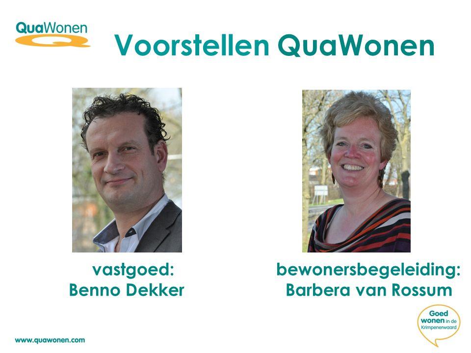 Voorstellen QuaWonen vastgoed: bewonersbegeleiding: