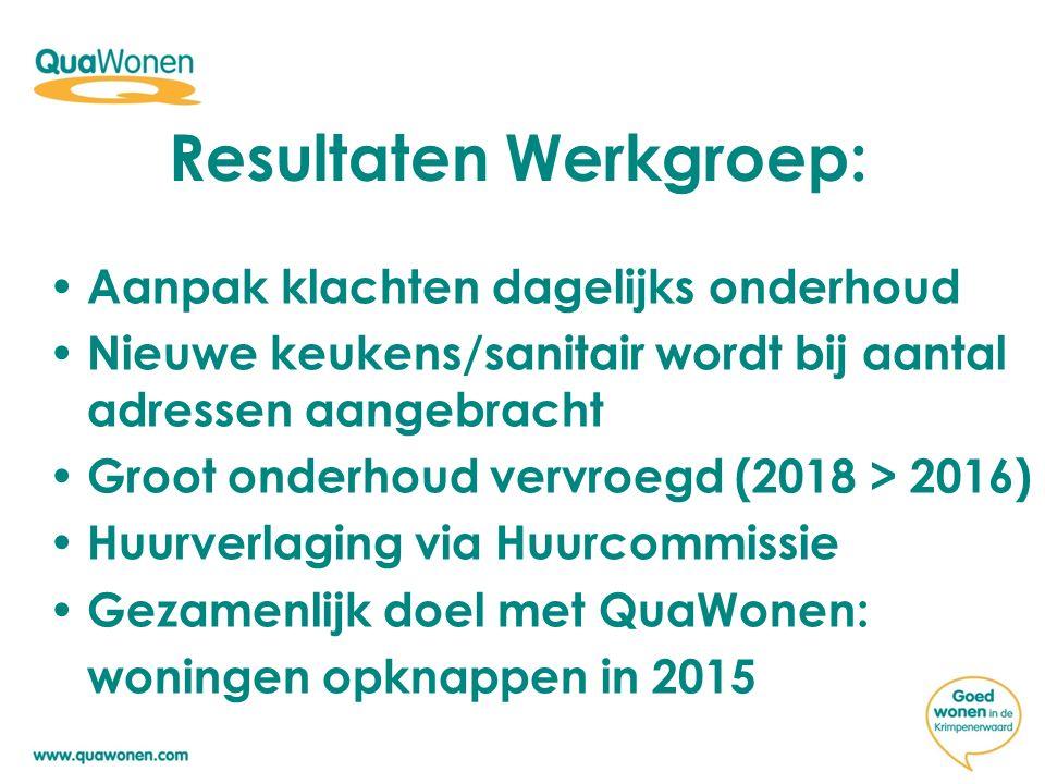 Resultaten Werkgroep: