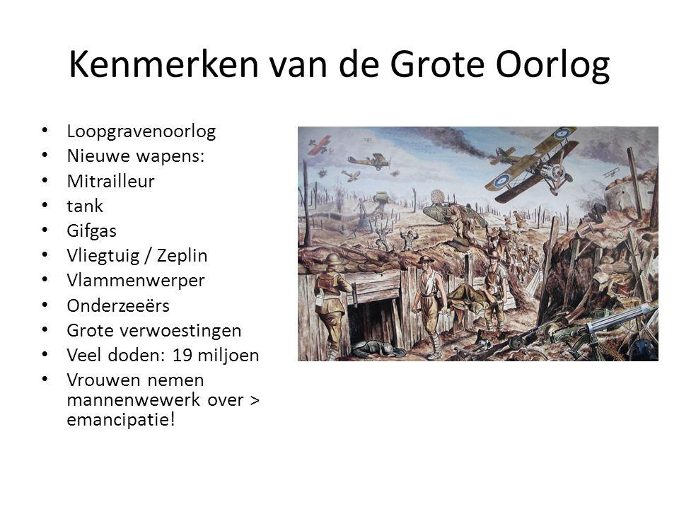 Kenmerken van de Grote Oorlog