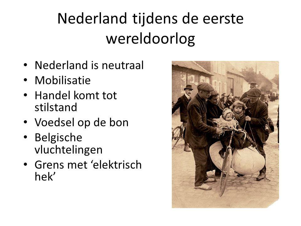 Nederland tijdens de eerste wereldoorlog