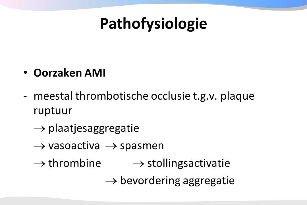 Pathofysiologie Oorzaken AMI