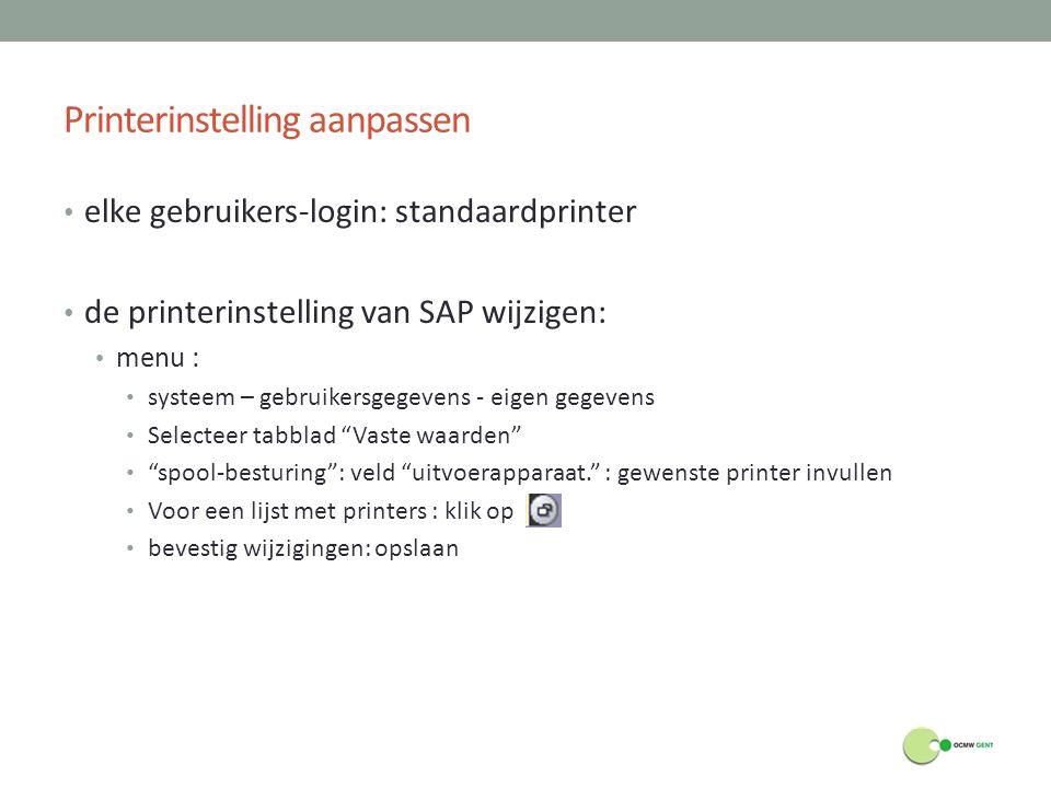 Printerinstelling aanpassen