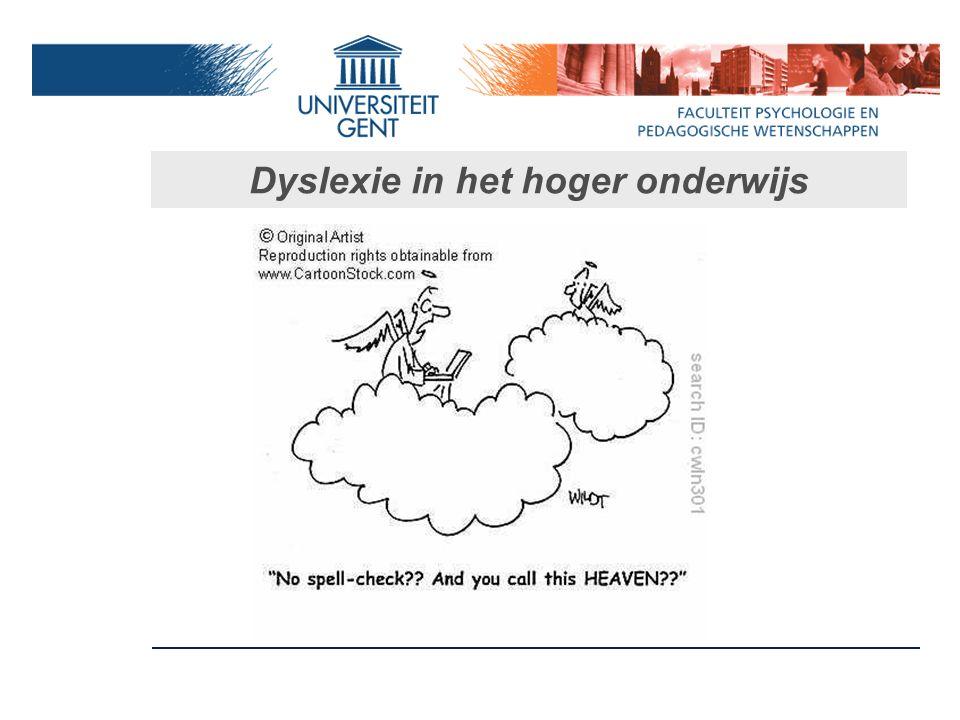 Dyslexie in het hoger onderwijs
