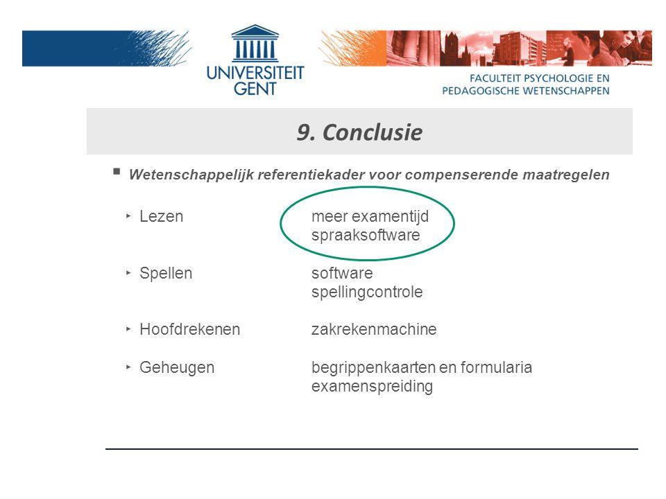 9. Conclusie Wetenschappelijk referentiekader voor compenserende maatregelen. Lezen meer examentijd.