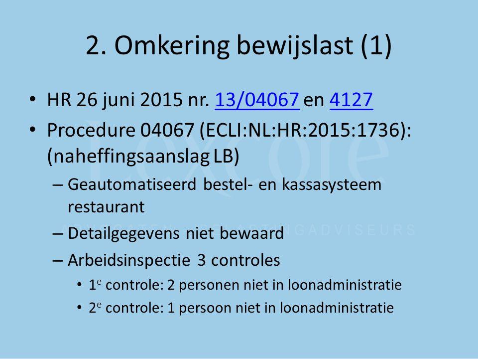 2. Omkering bewijslast (1)