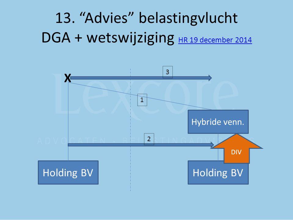 13. Advies belastingvlucht DGA + wetswijziging HR 19 december 2014