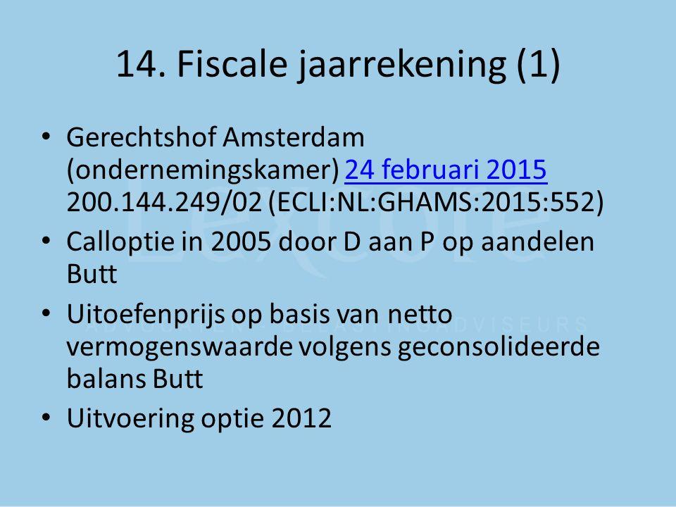 14. Fiscale jaarrekening (1)