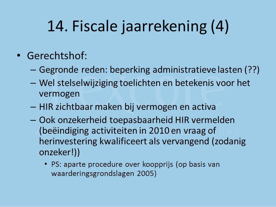 14. Fiscale jaarrekening (4)