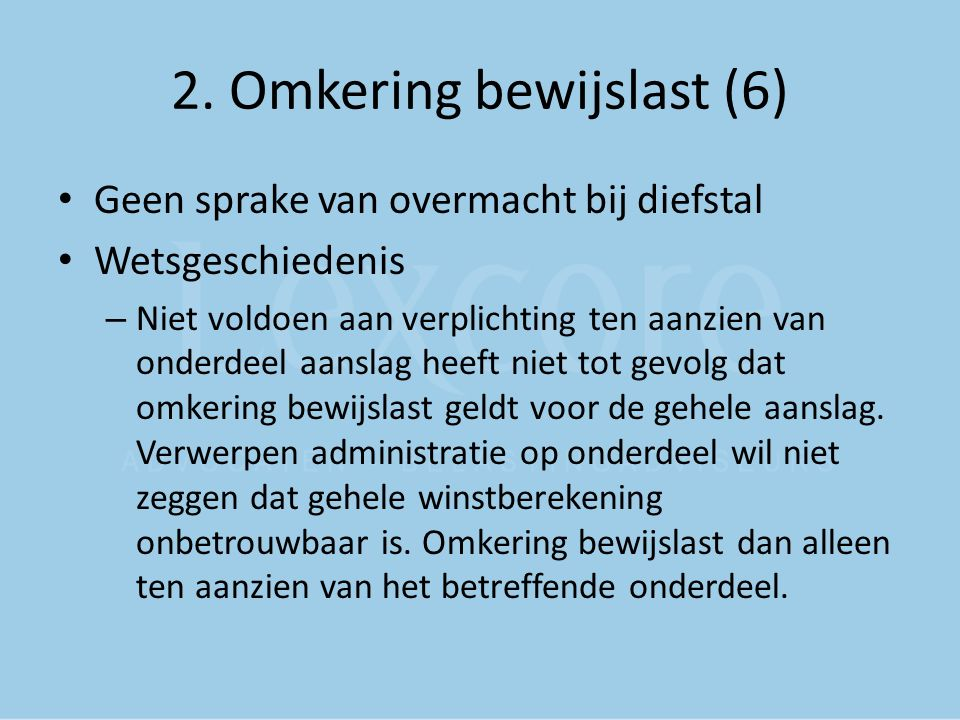 2. Omkering bewijslast (6)