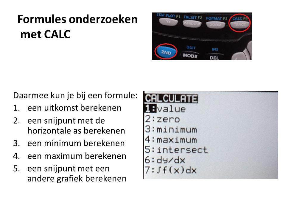 Formules onderzoeken met CALC