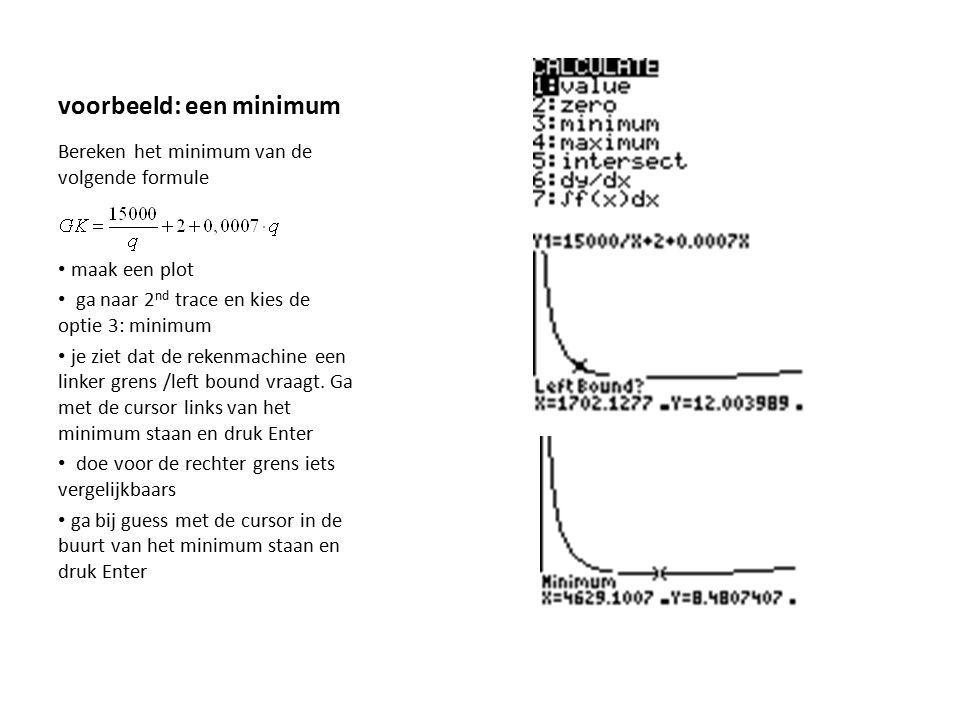 voorbeeld: een minimum
