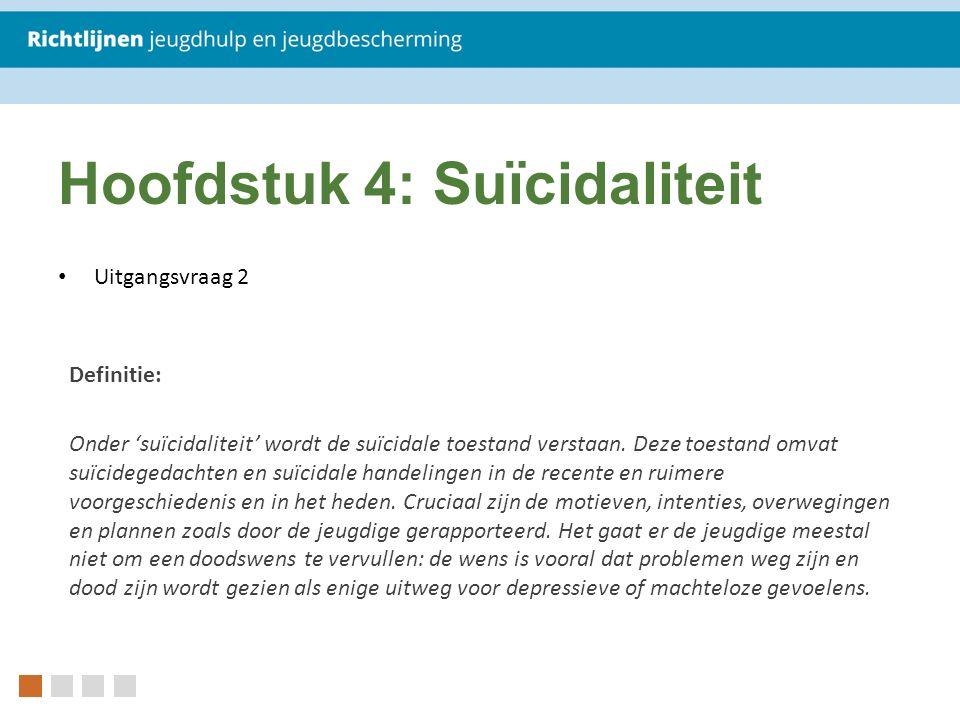 Hoofdstuk 4: Suïcidaliteit