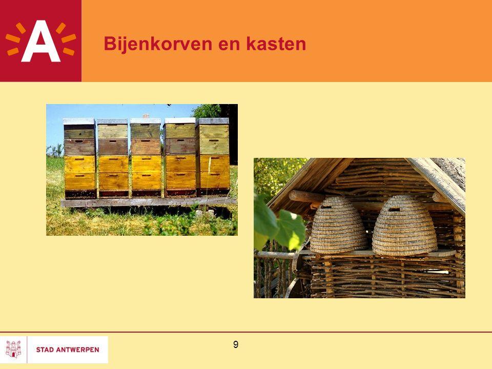 Bijenkorven en kasten