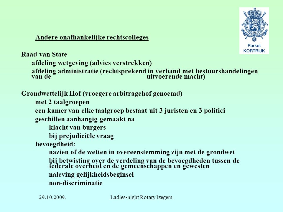 Ladies-night Rotary Izegem