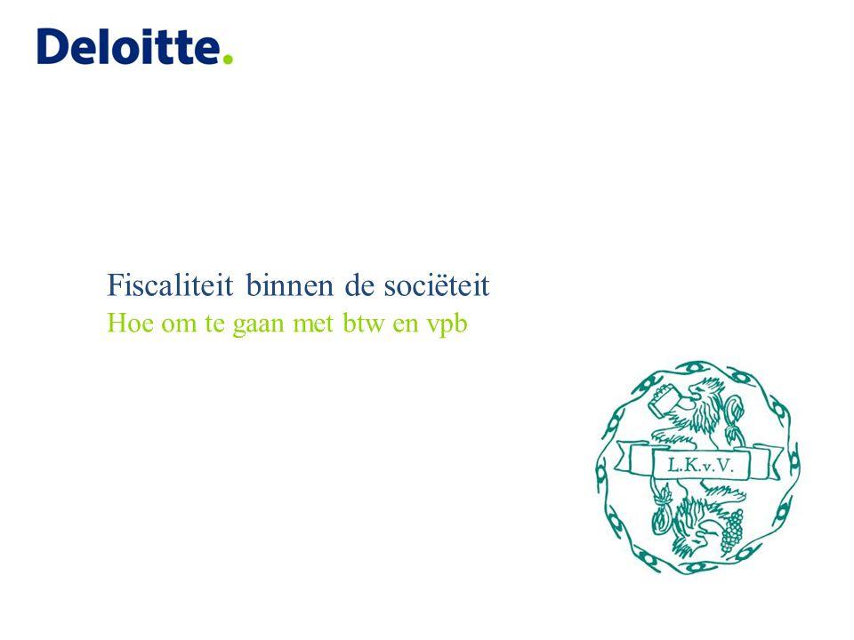 Agenda Introductie Deloitte Let us introduce ourselves Workshop: