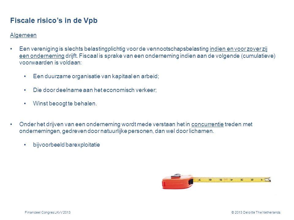 Fiscale risico's in de Vpb (II)