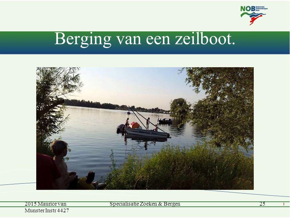 Berging van een zeilboot.