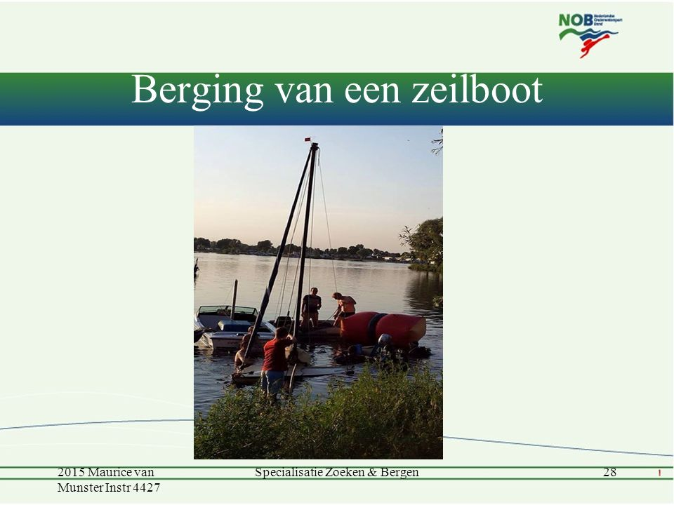 Berging van een zeilboot