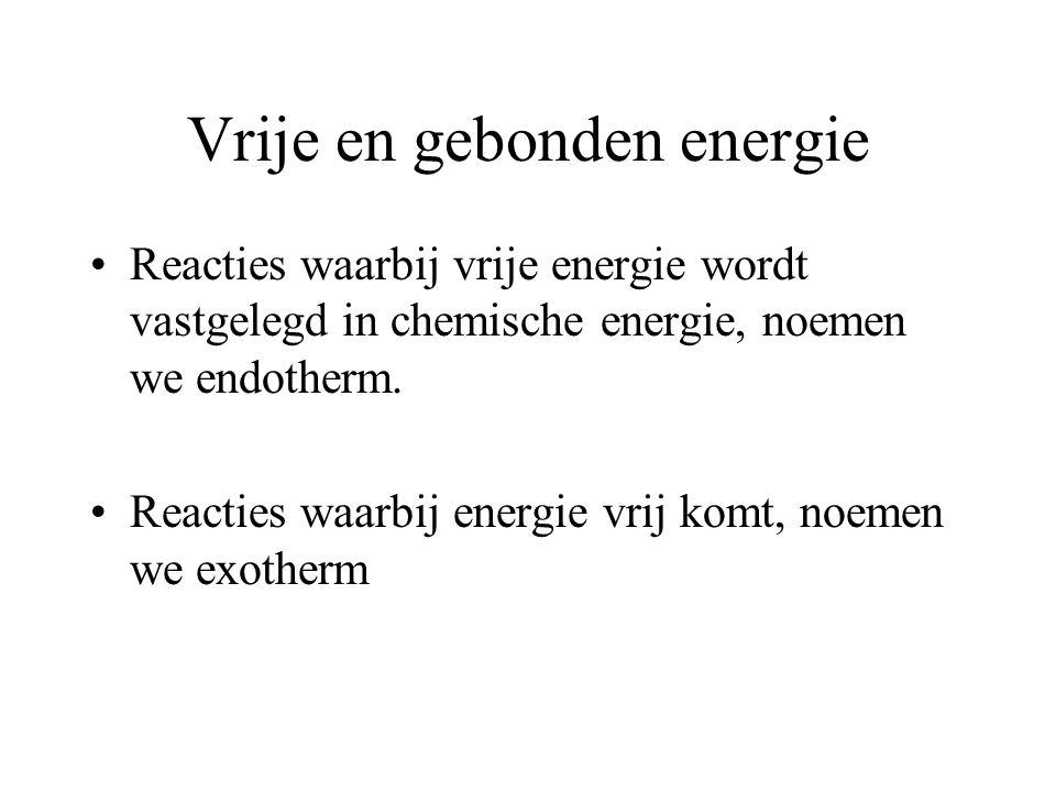 Vrije en gebonden energie