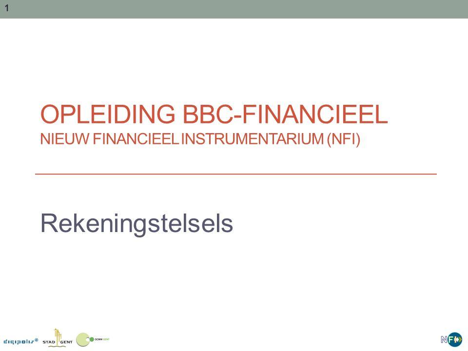 Opleiding BBC-financieel Nieuw financieel instrumentarium (NFI)
