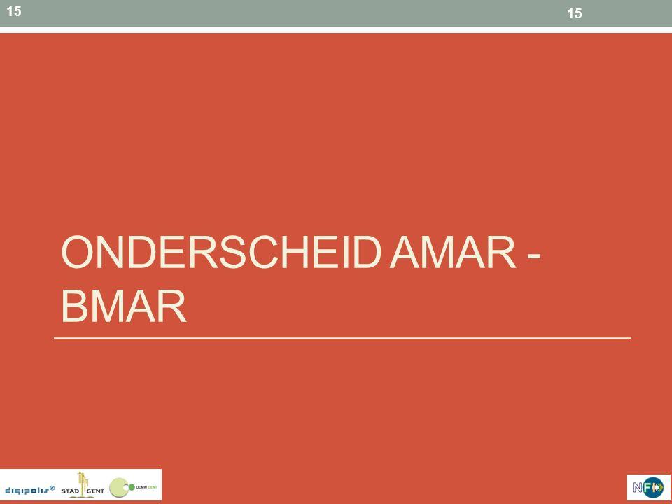 Onderscheid AMAR - BMAR