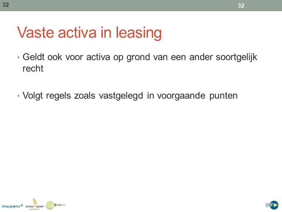 Vaste activa in leasing