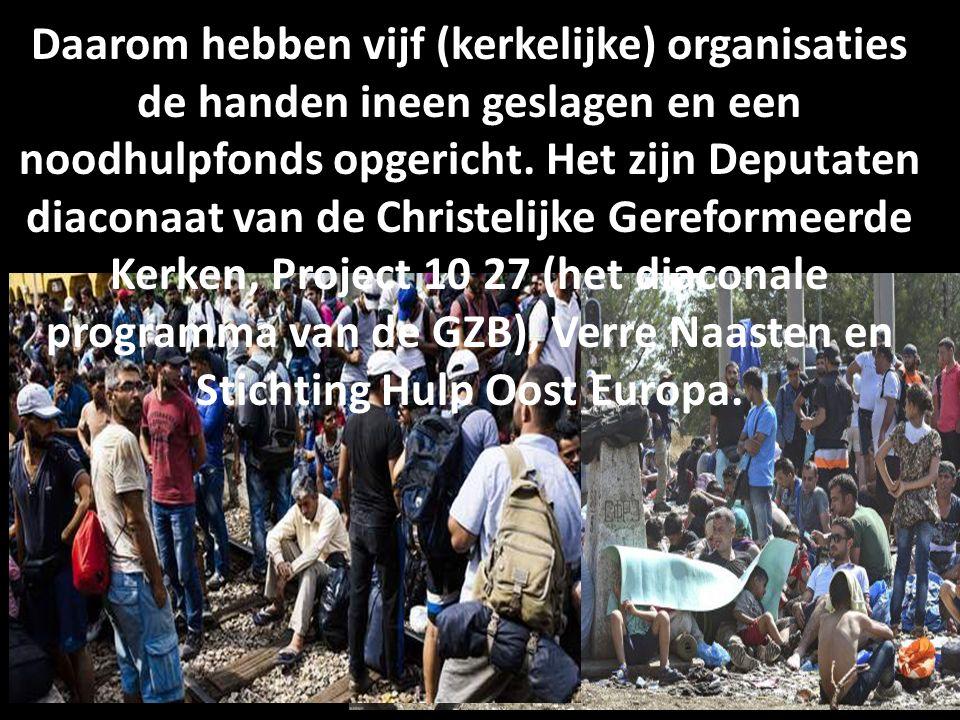 Daarom hebben vijf (kerkelijke) organisaties de handen ineen geslagen en een noodhulpfonds opgericht.