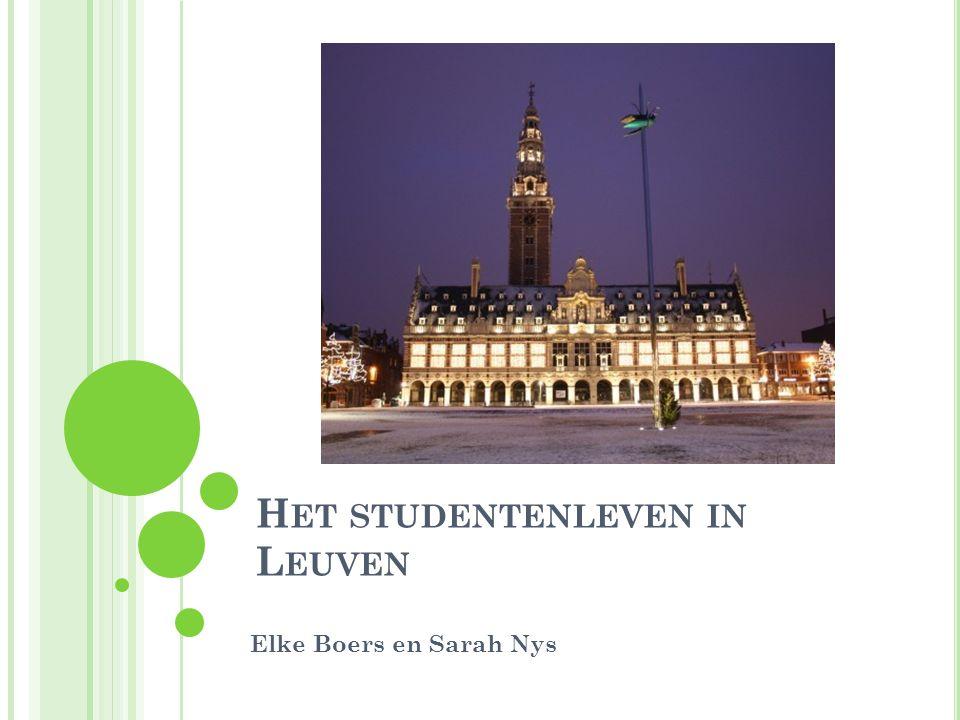Het studentenleven in Leuven