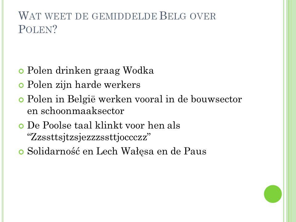 Wat weet de gemiddelde Belg over Polen